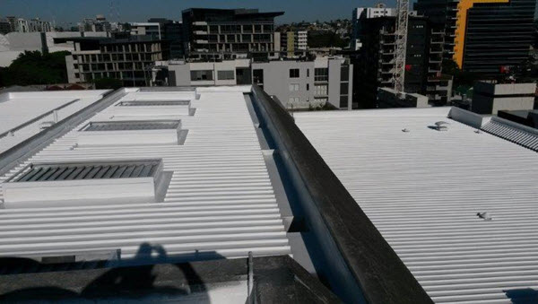 Metal roof with Liquid Membrane
