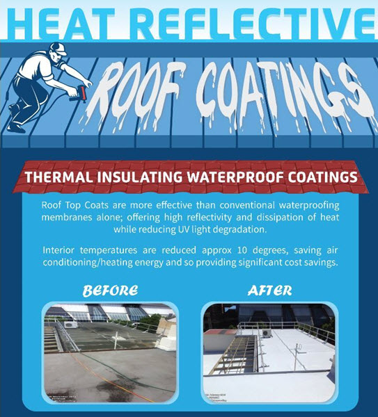 Heat Reflective Roof Coatings