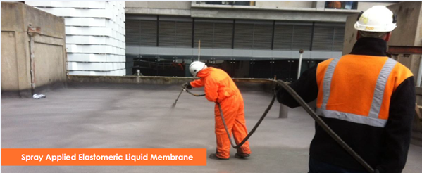 Waterproof Membrane-Concrete Roof
