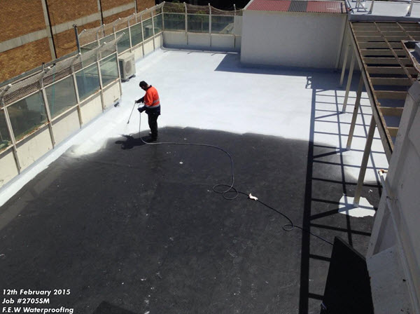 Melbourne Roof Application of Thermo Top Coat