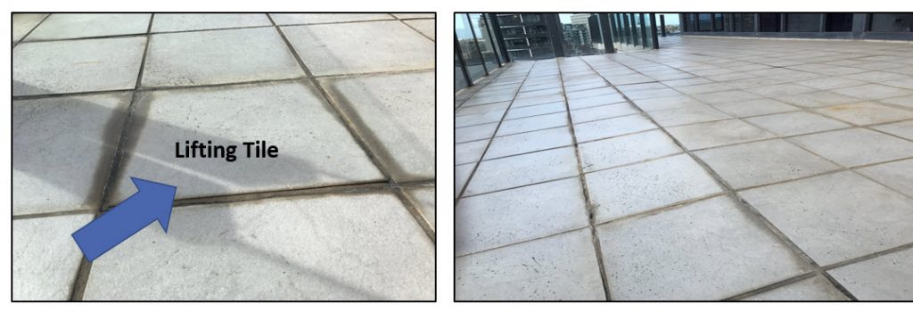 Melbourne -leaking-balconies - lifting tile