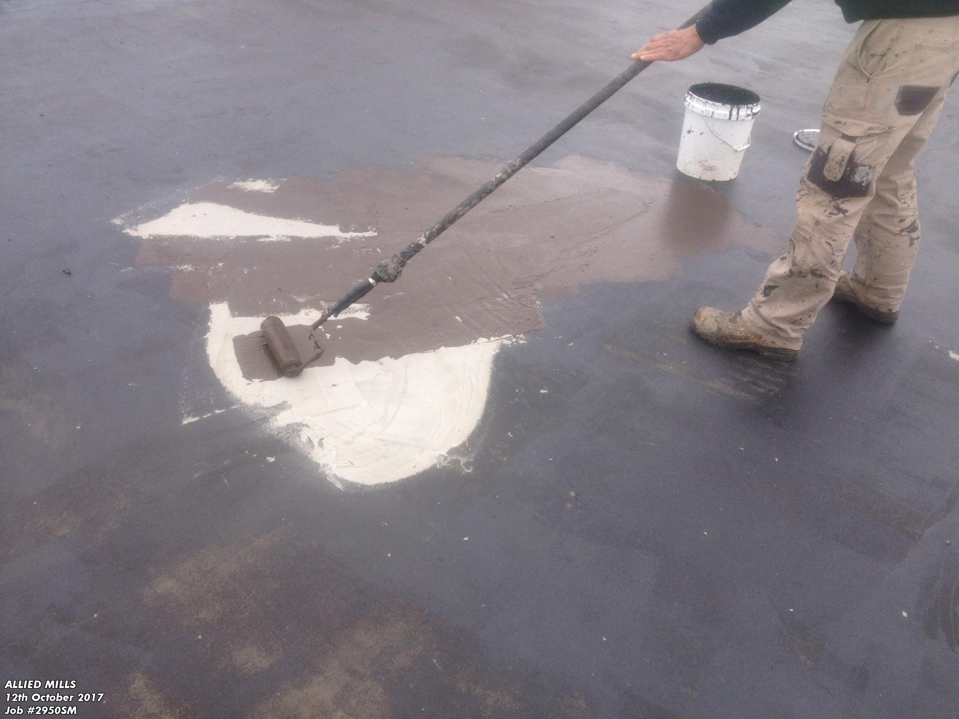 Liquid Rubber over screed