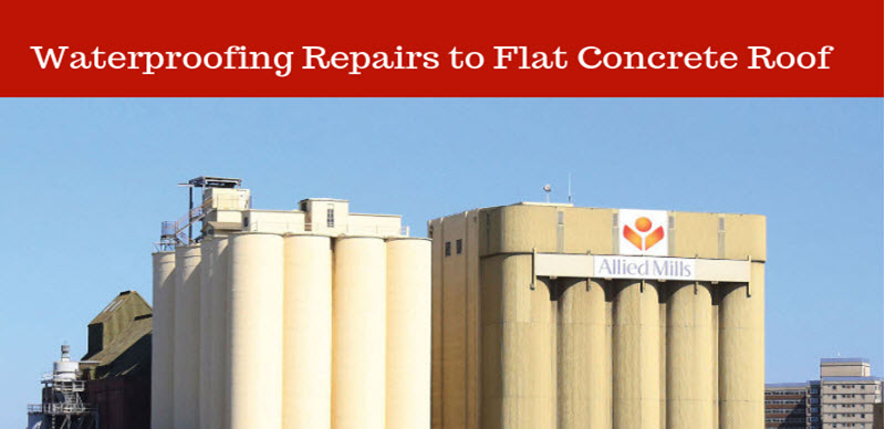 Waterproofing Repairs to Flat Concrete Roof in Melbourne