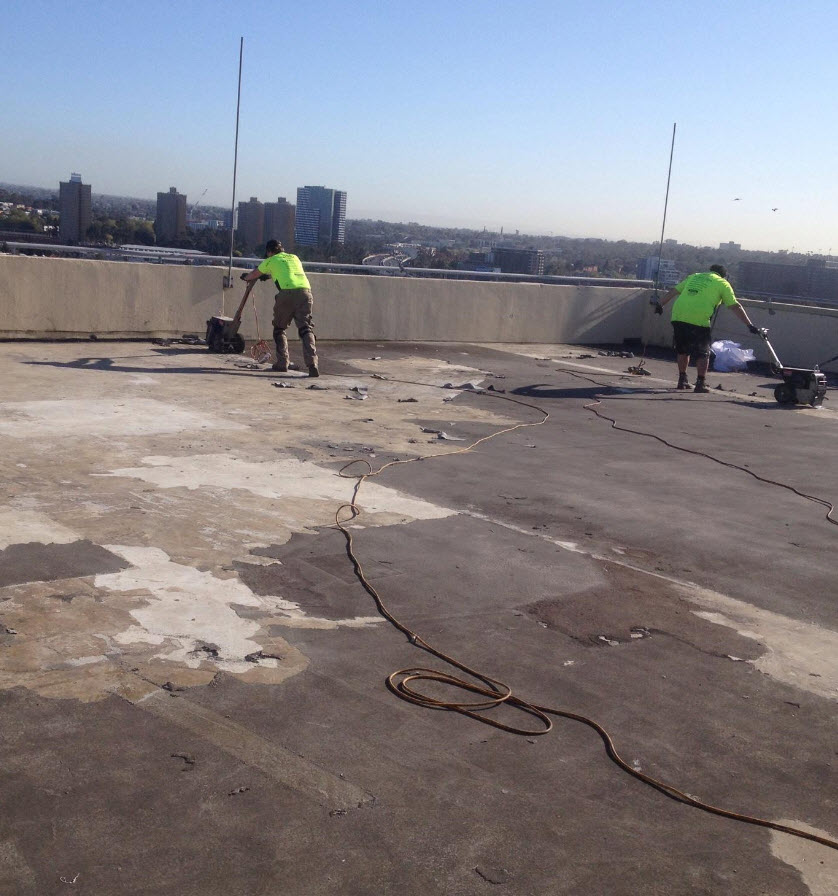 waterproof sealer for concrete -roof-slab